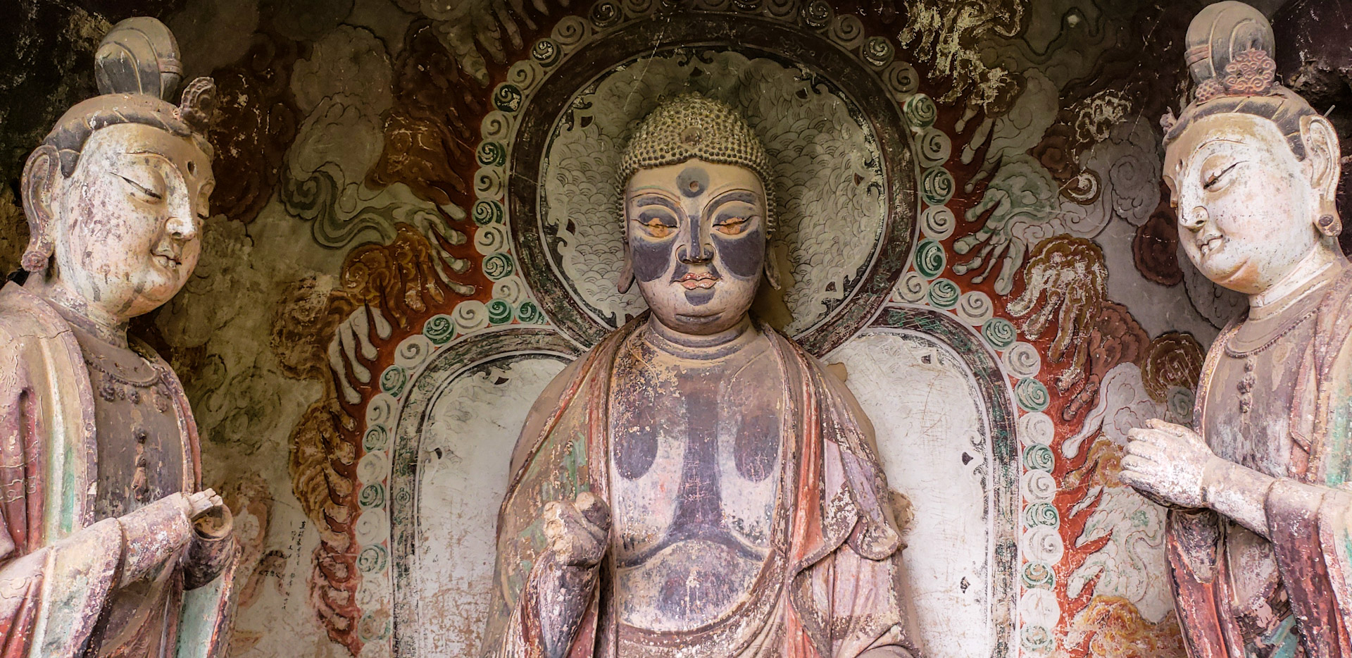 Maijishan Grottoes Buddha Faces