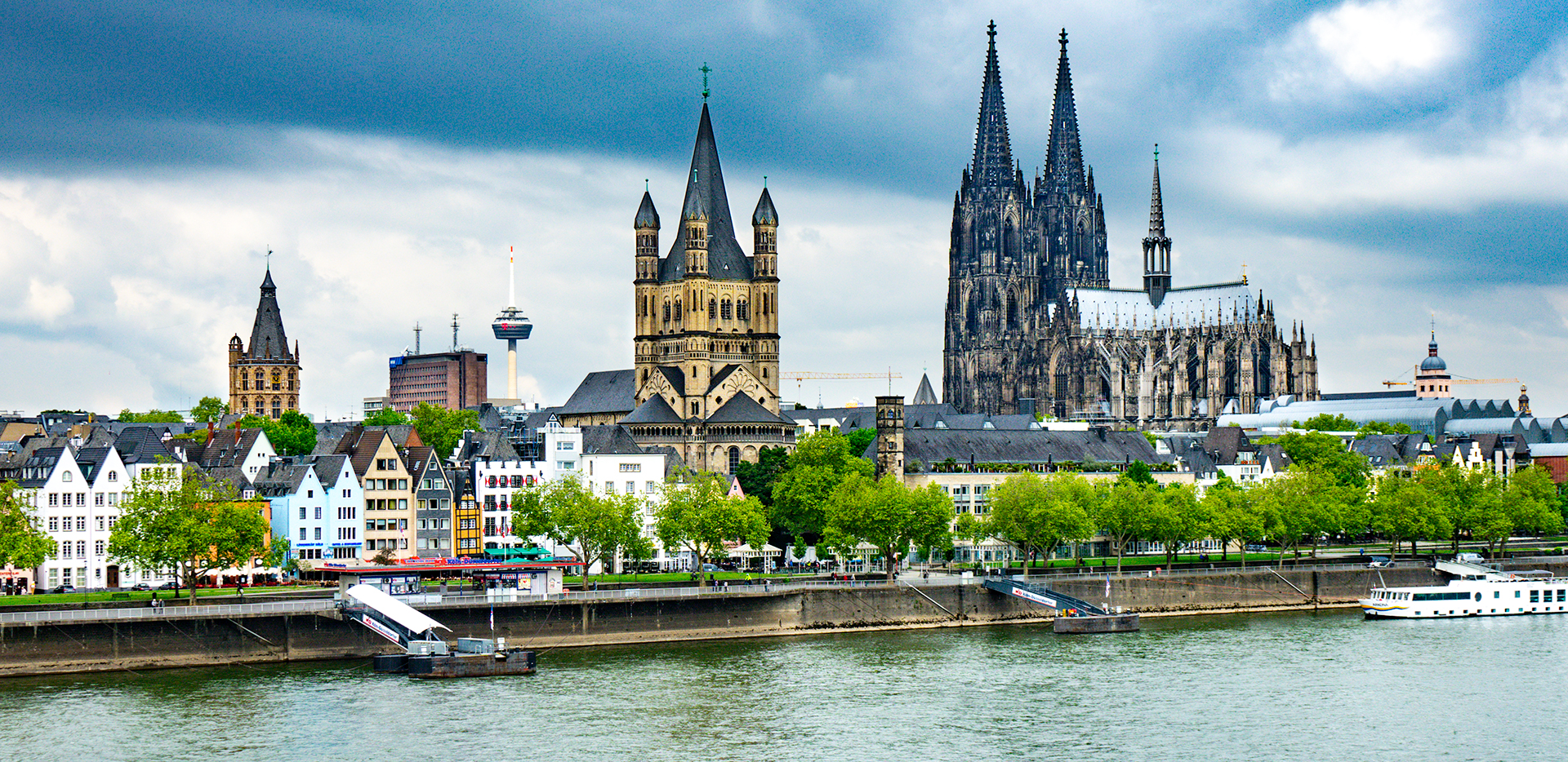 Cologne Skyline from the Rhine River