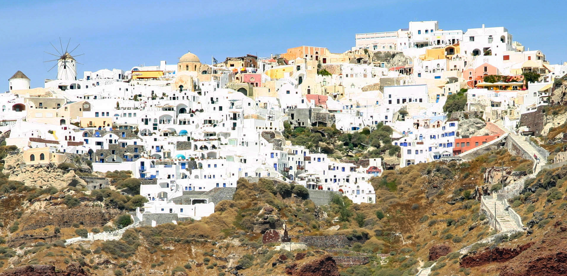 White City of Fira in the Greek Islands