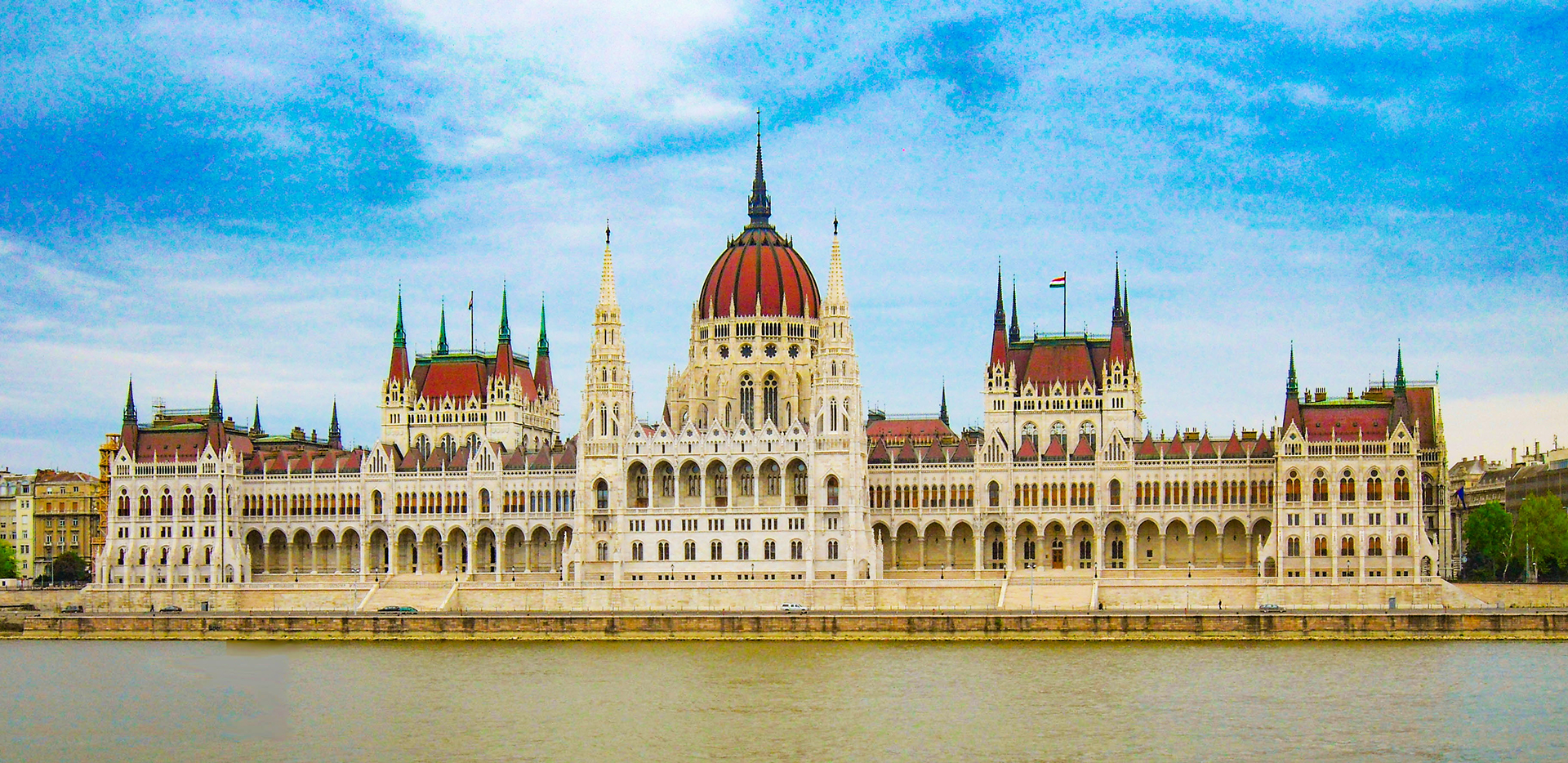 Parliament Building Across the Danube River