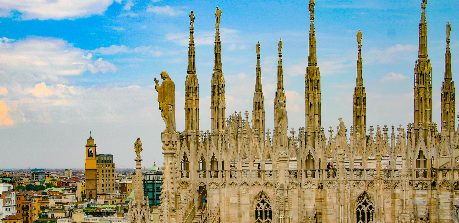 Duomo Di Milano Cathedral Rooftop Row of Statues