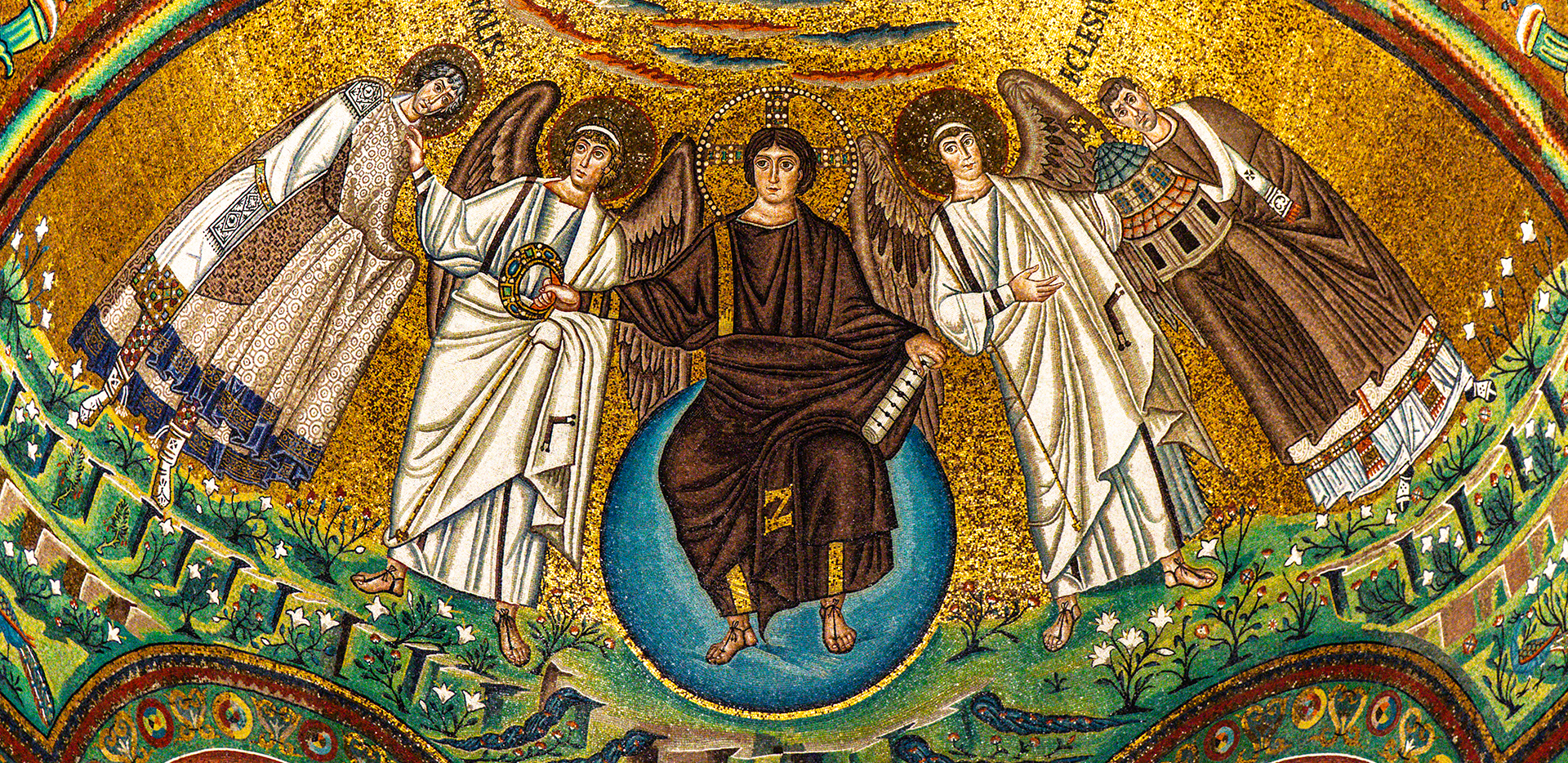 Basilica di San Vitale - Mosaic of the Apostles