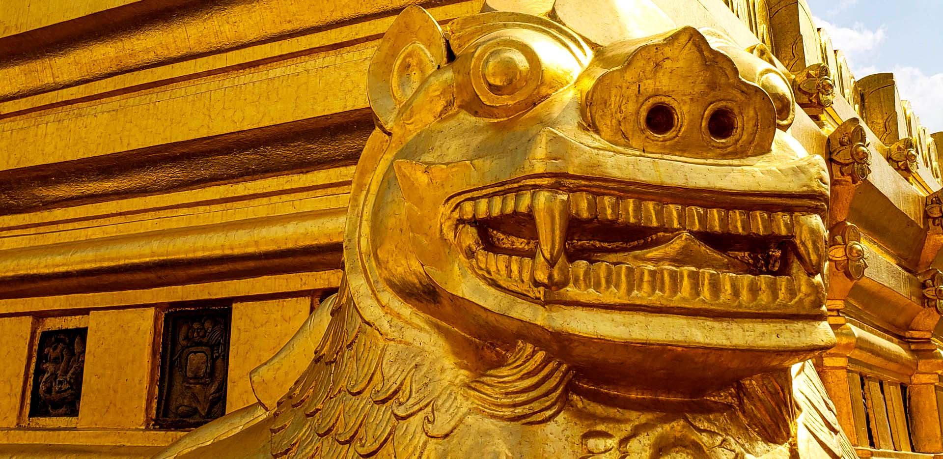 Shwezigon Pagoda Big Golden Lion
