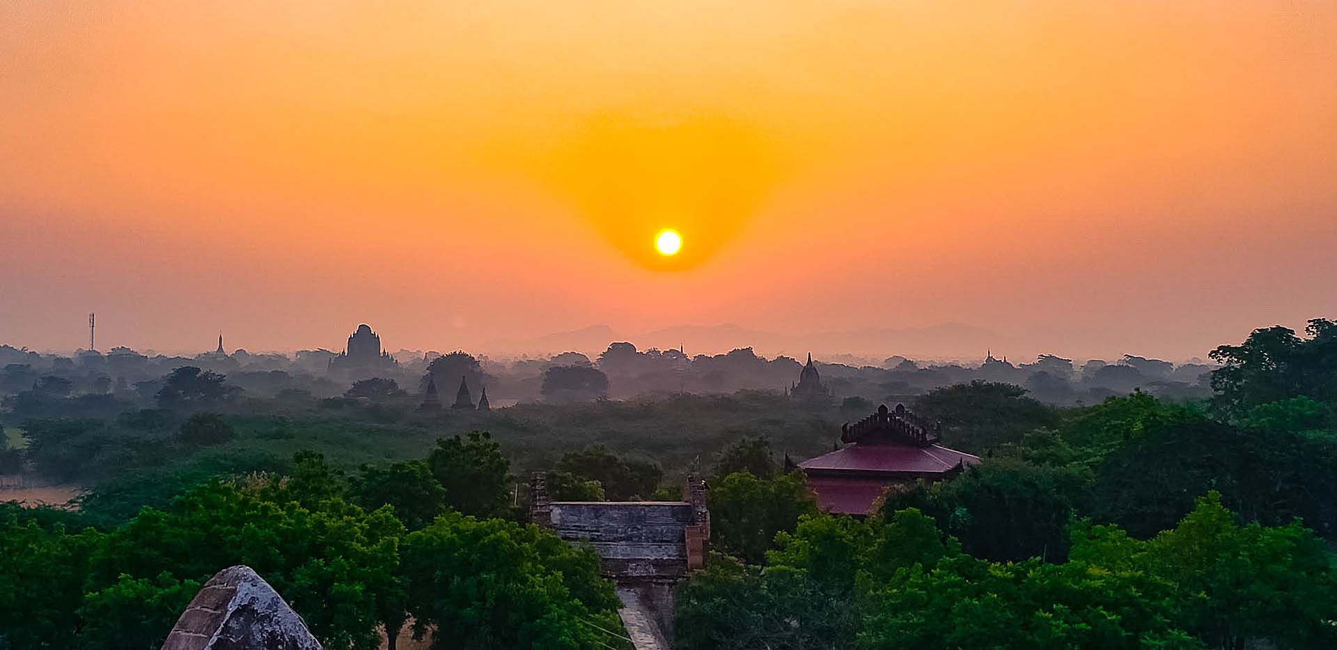 Sunrise over the Pagodas