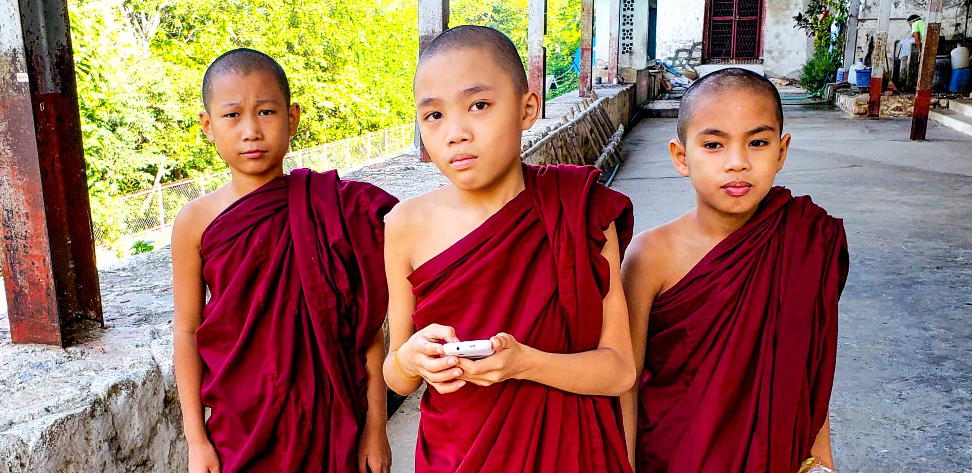 Hill Steps Young Monks