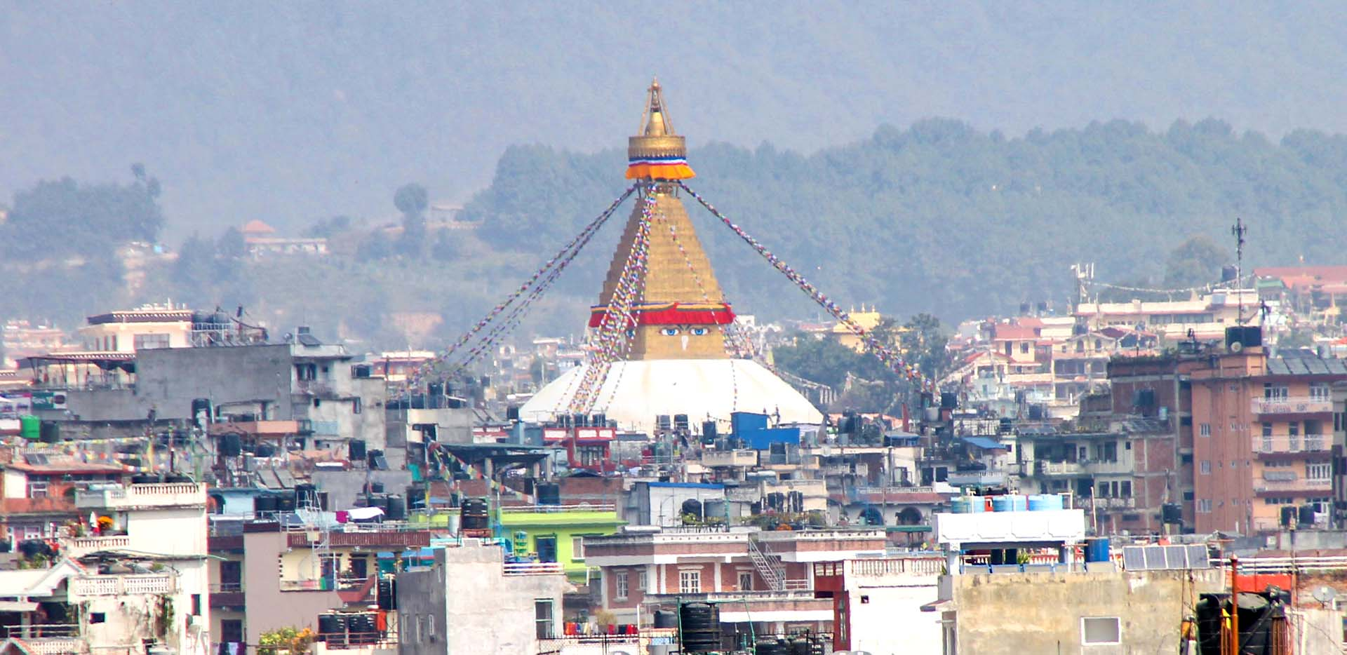 Bouddha Stupa in the Distance