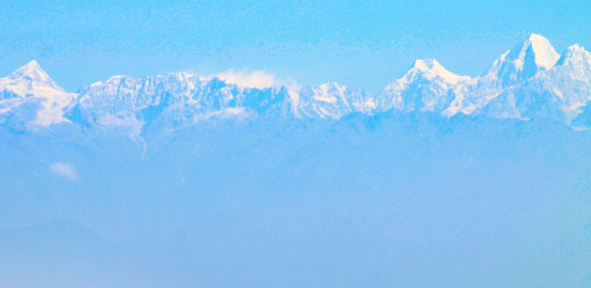 View of Langtang Himalayas