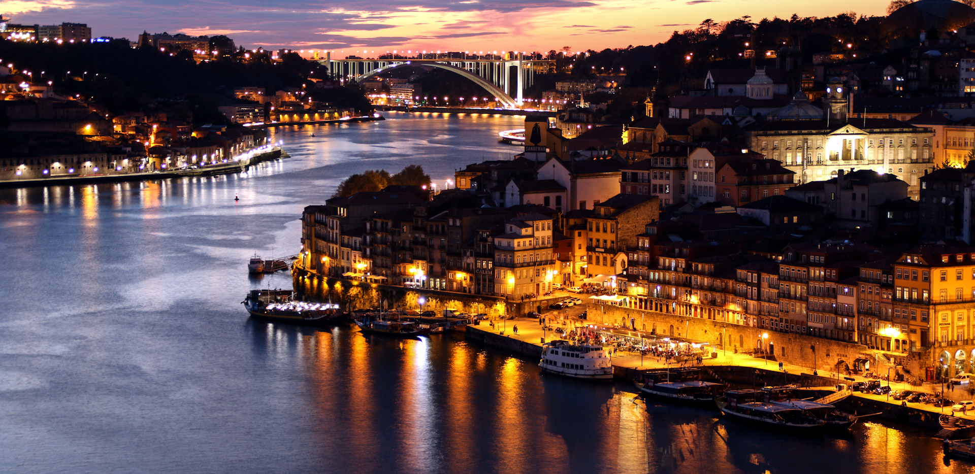Night View of Porto From Bridge