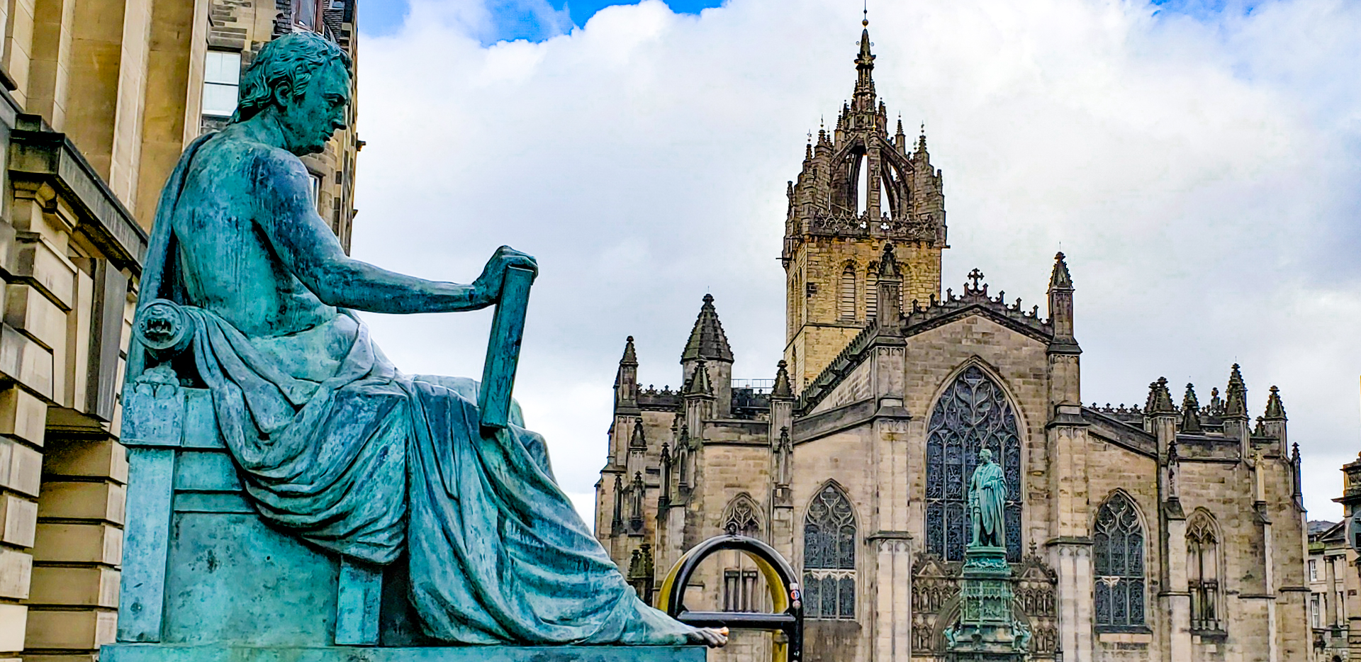 David Hume Memorial in front of St. Giles Cathedral