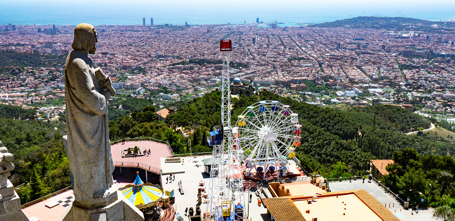View from Tibidabo Church Balcony