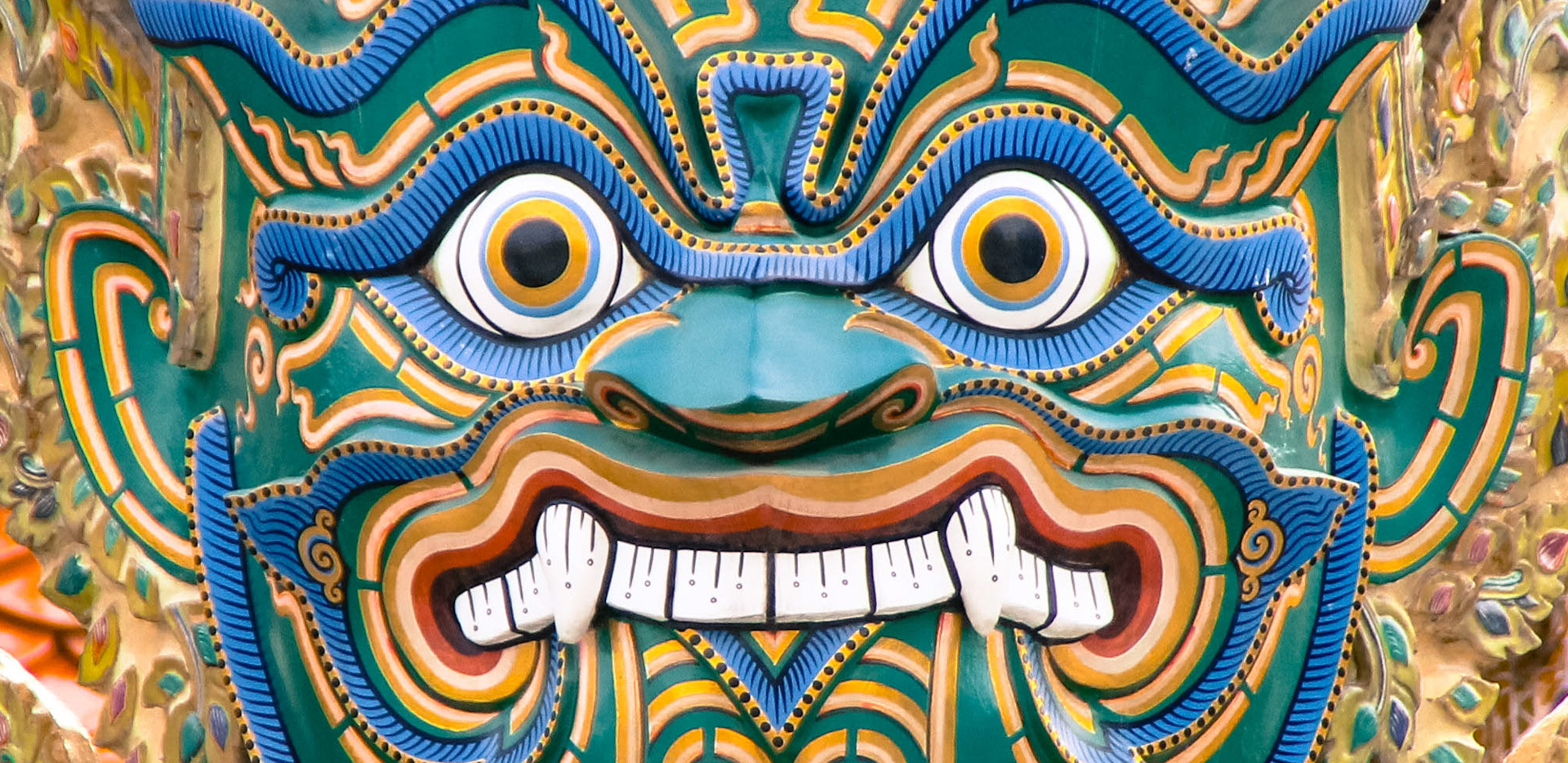 Grand Palace Blue Demon Face
