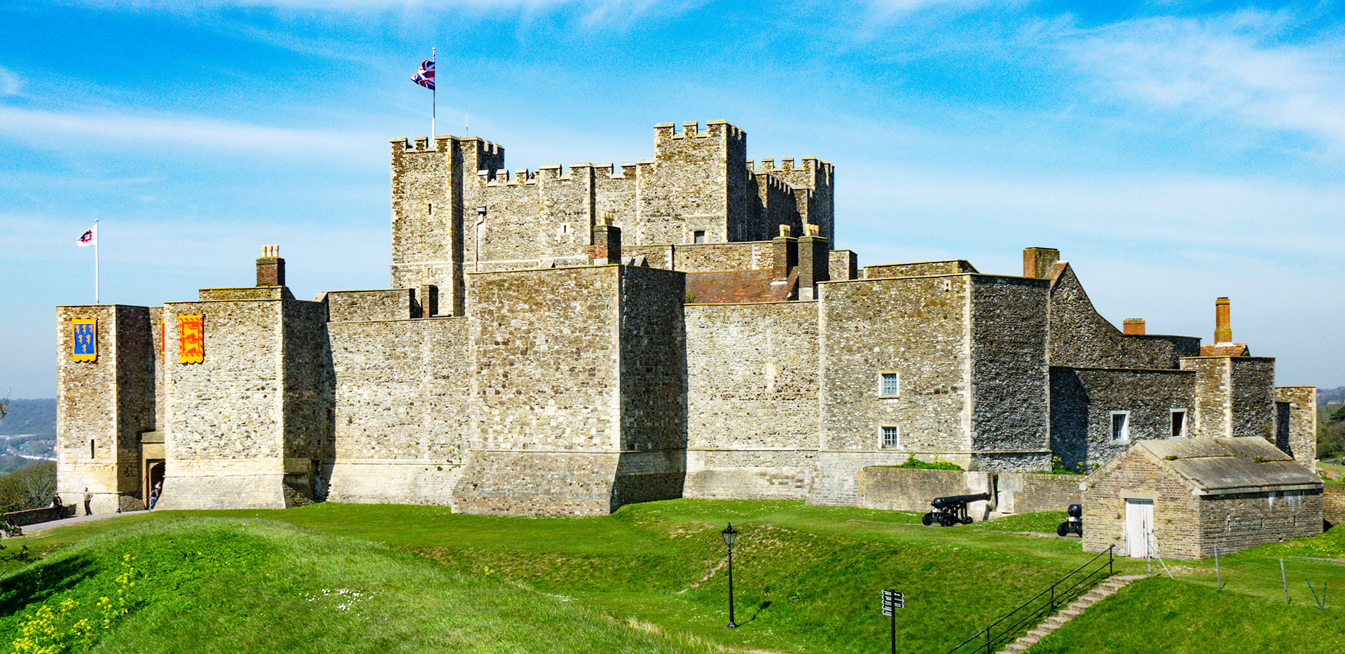 Dover Castle on a Sunny Day