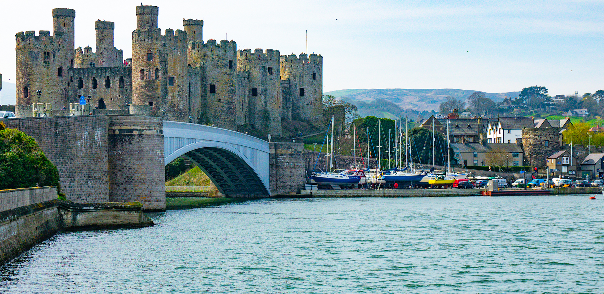 Conwy Castle From Across the Bay