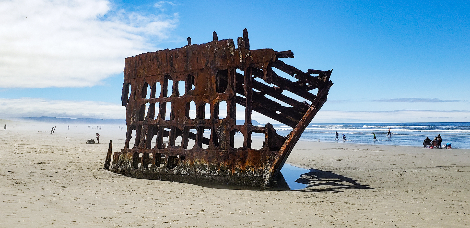 Peter Iredale Shipwreck In Fort Stevens State Park