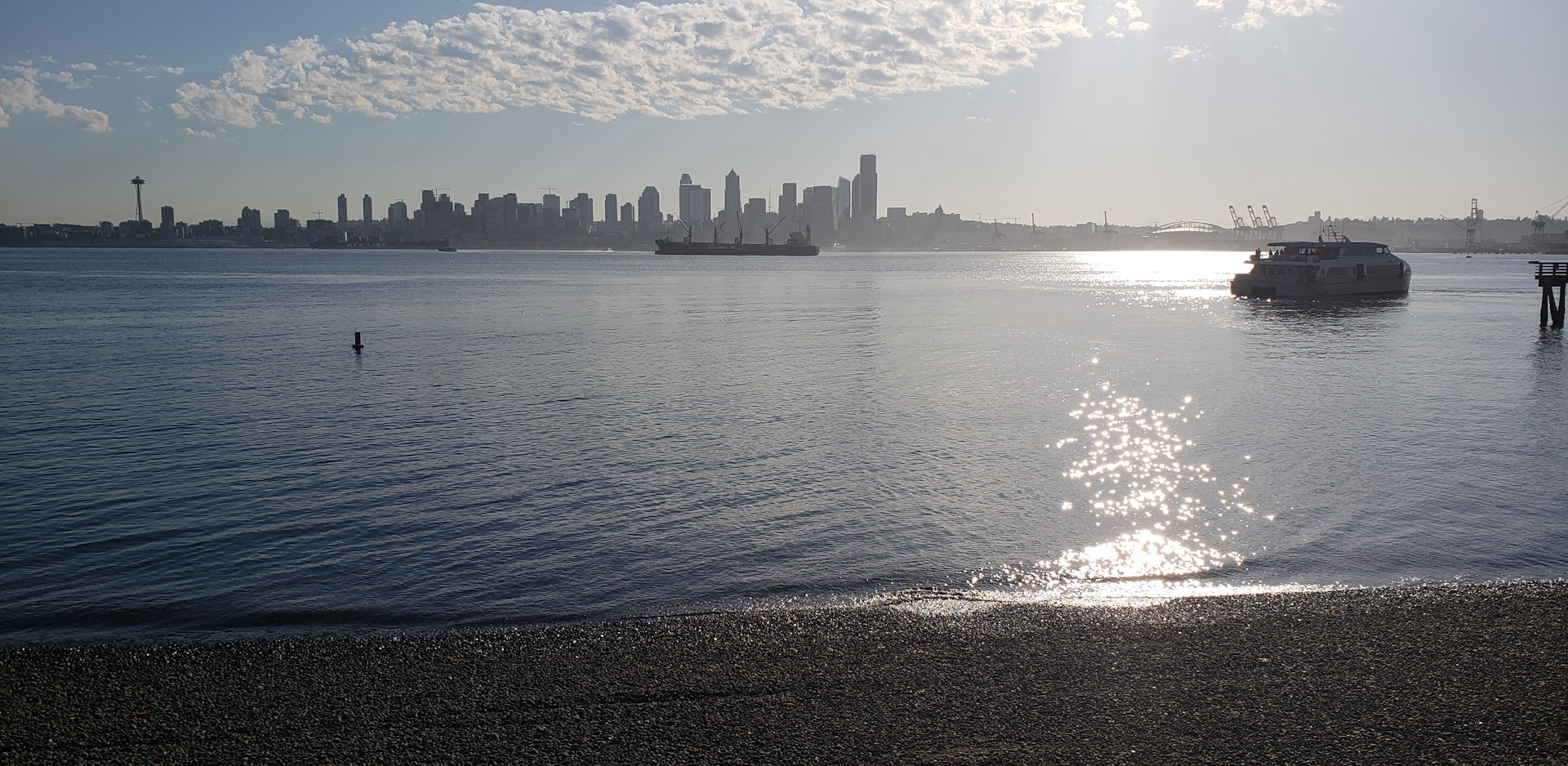 View of Downtown Seattle From West Seattle