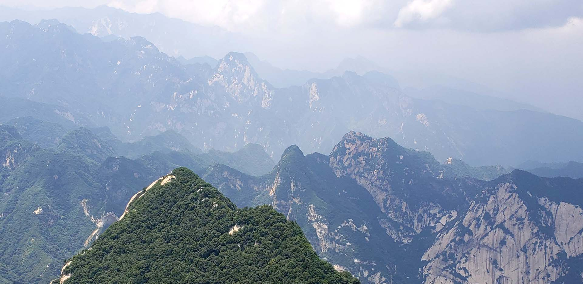 Huashan Mountains view from West Peak