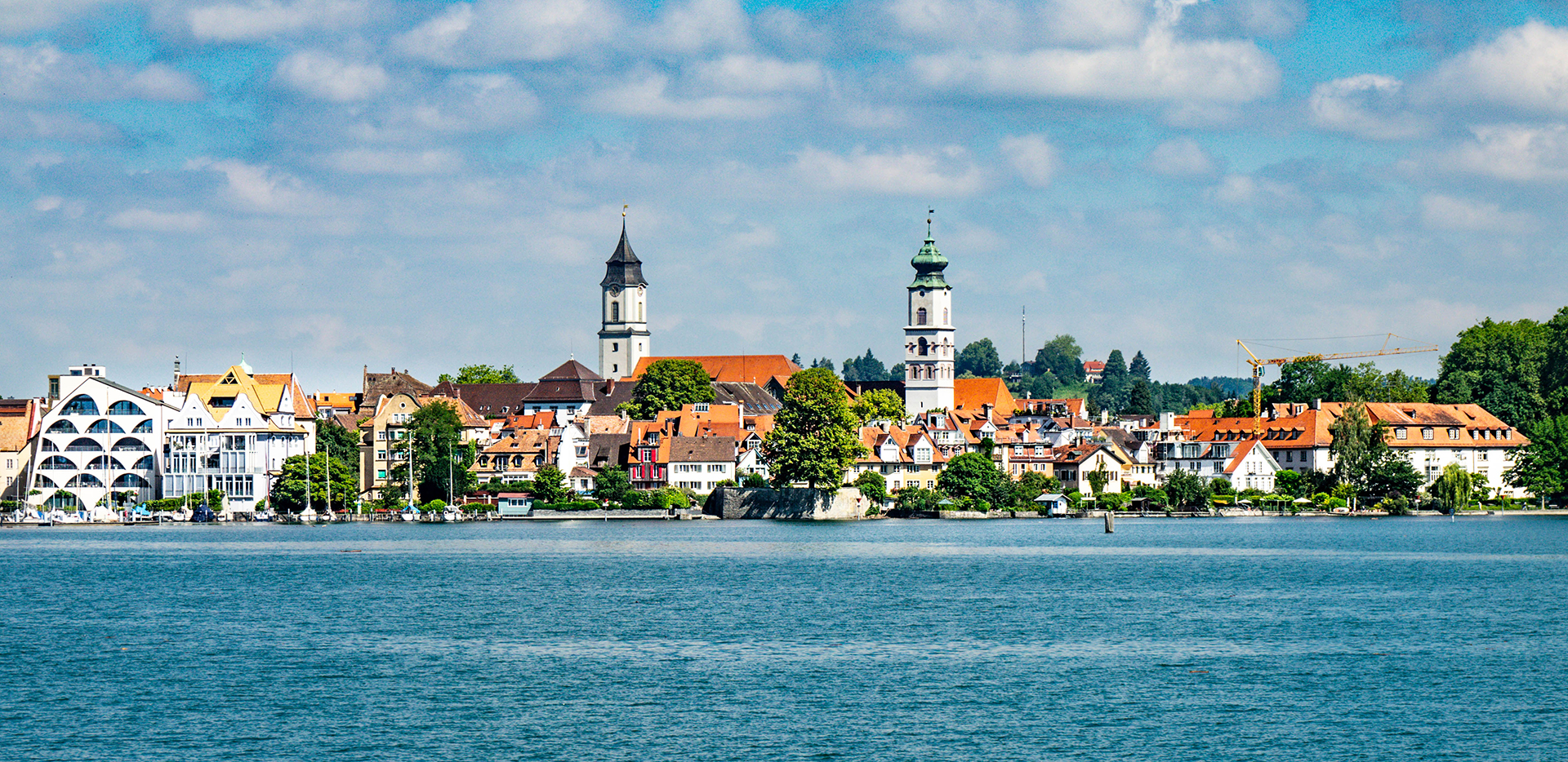 Lindau Skyline From Lake Constance Bodensee