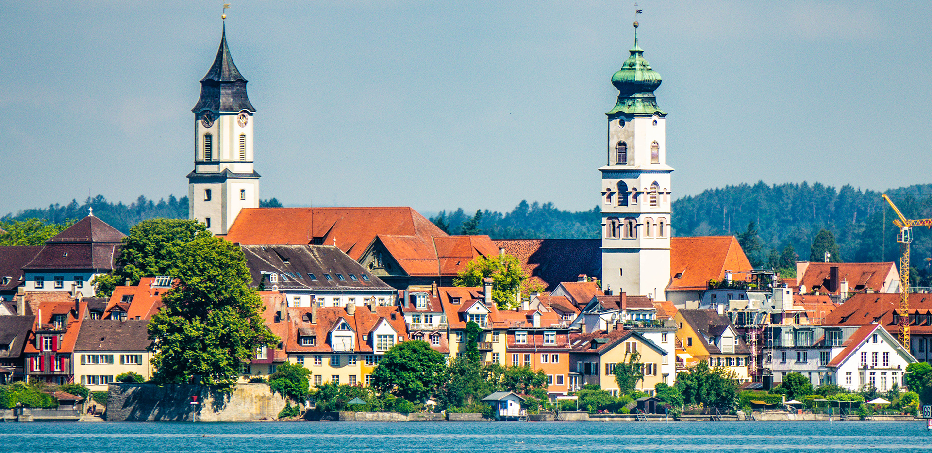 Lindau Skyline From Lake Constance