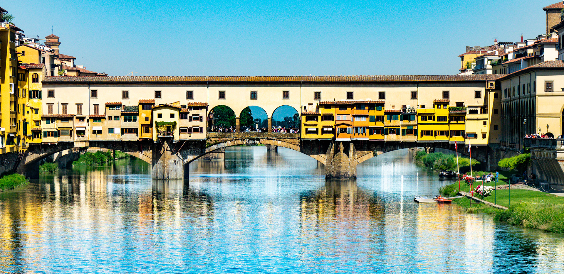 Ponte Vecchio On The River Arno